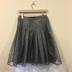Kay Unger Skirts - Kay Unger gray sparkle pleated skirt